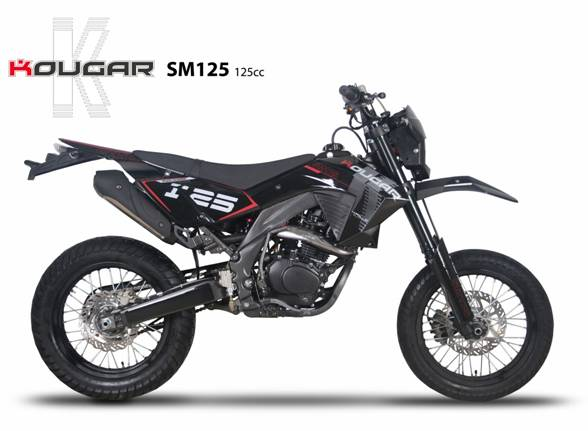 dirt bike kougar 125cc moto homologu route pit bike sm 125 cc. Black Bedroom Furniture Sets. Home Design Ideas